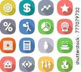 flat vector icon set   target... | Shutterstock .eps vector #777079732