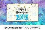 happy new year card. 2018....   Shutterstock .eps vector #777079948