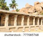 beautiful columns architecture...   Shutterstock . vector #777085768