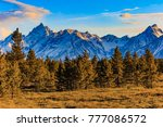 the snow capped mountains of... | Shutterstock . vector #777086572