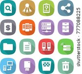 flat vector icon set   search... | Shutterstock .eps vector #777088225