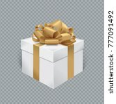vector realistic gift box with... | Shutterstock .eps vector #777091492
