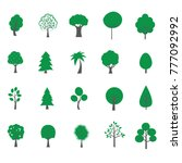 tree flat style on background... | Shutterstock .eps vector #777092992
