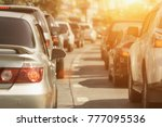 traffic jams in the city   rush ... | Shutterstock . vector #777095536