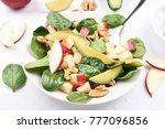 fruit salad from apples ... | Shutterstock . vector #777096856
