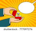 hands with precious diamond... | Shutterstock .eps vector #777097276