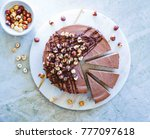 raw vegan chocolate vanilla... | Shutterstock . vector #777097618