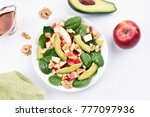 healthy breakfast with fresh... | Shutterstock . vector #777097936