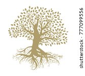 tree of life  gold tree with... | Shutterstock .eps vector #777099556