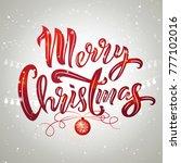 merry christmas text design...   Shutterstock .eps vector #777102016
