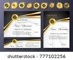 qualification certificate of...   Shutterstock .eps vector #777102256