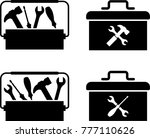 toolbox icon vector art... | Shutterstock .eps vector #777110626