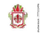 vintage heraldic emblem created ... | Shutterstock .eps vector #777111496