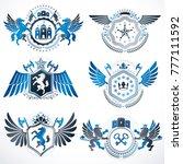vintage decorative heraldic... | Shutterstock .eps vector #777111592