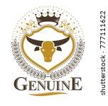 vintage emblem  vector heraldic ... | Shutterstock .eps vector #777111622