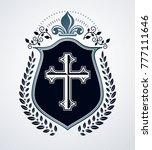 heraldic sign  element ... | Shutterstock .eps vector #777111646