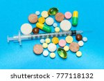opioid epidemic .opioid pills.... | Shutterstock . vector #777118132