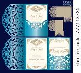 die laser cut wedding card... | Shutterstock .eps vector #777118735
