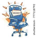 job vacancy sign with office... | Shutterstock .eps vector #777118792
