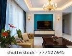 house interior with luxury...   Shutterstock . vector #777127645