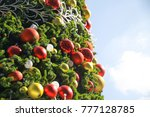 big christmas tree and... | Shutterstock . vector #777128785