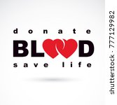 volunteer donorship  healthcare ...   Shutterstock .eps vector #777129982