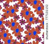 floral seamless pattern. cute... | Shutterstock .eps vector #777131152