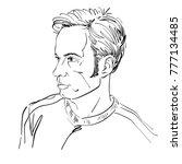 vector art drawing  portrait of ... | Shutterstock .eps vector #777134485