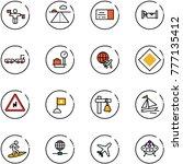 line vector icon set   traffic... | Shutterstock .eps vector #777135412