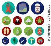 drug addiction and attributes...   Shutterstock .eps vector #777138172