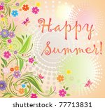 summer card | Shutterstock .eps vector #77713831
