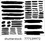 collection of hand drawn grunge ... | Shutterstock .eps vector #777139972