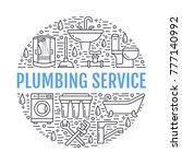 plumbing service banner... | Shutterstock .eps vector #777140992
