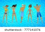 top view vector illustrations... | Shutterstock .eps vector #777141076