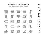 oil heater  fireplace ... | Shutterstock .eps vector #777141112