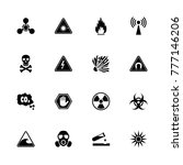 danger icons. flat simple icon  ... | Shutterstock . vector #777146206