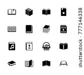 books icons. flat simple icon   ... | Shutterstock . vector #777146338