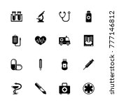 medical icons. flat simple icon ... | Shutterstock . vector #777146812