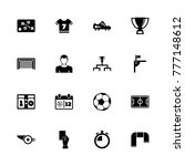 soccer icons. flat simple icon  ... | Shutterstock . vector #777148612