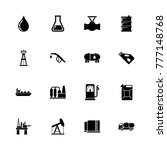 oil icons. flat simple icon  ... | Shutterstock . vector #777148768