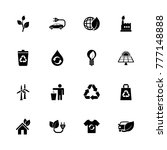 ecological icons. flat simple... | Shutterstock . vector #777148888