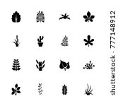 plants icons. flat simple icon  ... | Shutterstock . vector #777148912