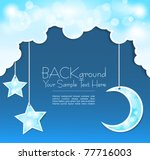 vector blue background with...   Shutterstock .eps vector #77716003