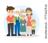 isolated happy family with... | Shutterstock .eps vector #777162916