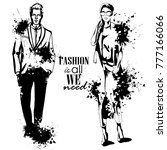 vector woman and man fashion | Shutterstock .eps vector #777166066