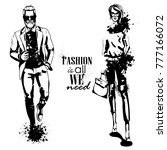 vector woman and man fashion | Shutterstock .eps vector #777166072