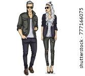 vector woman and man | Shutterstock .eps vector #777166075