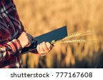 smart farming  using modern... | Shutterstock . vector #777167608