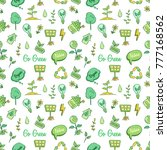cute go green icons concept in... | Shutterstock .eps vector #777168562