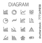 diagram related vector icon set.... | Shutterstock .eps vector #777169858